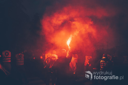 Zdjęcie zrobione 11 listopada 2017 roku podczas marszu w Warszawie.