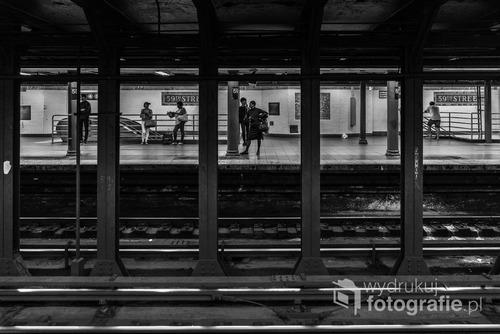 Nowojorskie metro, stacja 59ta ulica. Lipiec, 2016.