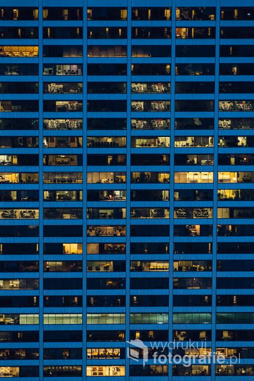 Biurowce na Manhattanie nigdy nie śpią. Nowy Jork, 2016.