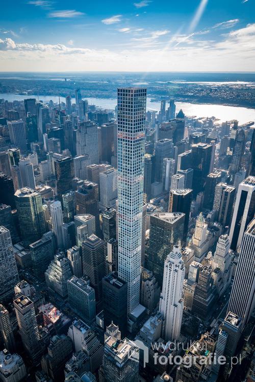 Najwyższy budynek mieszkalny na świecie, 432 Park Avenue. Nowy Jork, lipiec 2016.