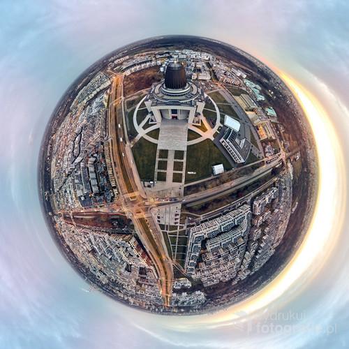 Beautiful panoramic aerial drone view