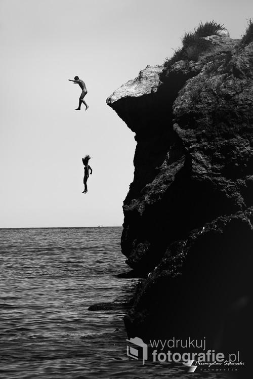 Zdjęcie wykonane z plazy w san Nicola na Sycylii