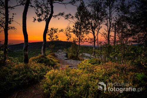 Zdjęcie wykonane na Narożniku w Górach Stołowych