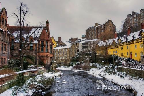 Uroczy zakątek Edynburga nad rzeką Leith