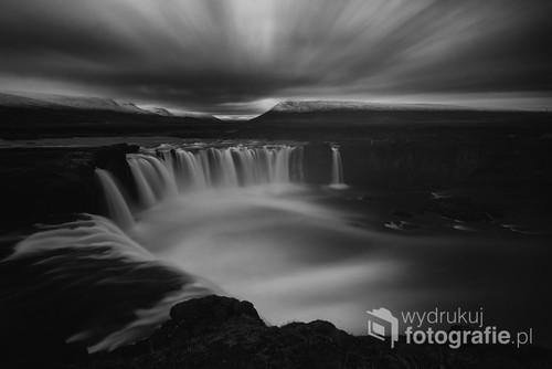 Wodospad Godafoss , Islandia.