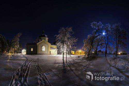 Dawna cerkiew na Krupcu w Narolu, podkarpackie, Roztocze. Zdjęcie znajduje się w kalendarzu wydanym przez Urząd Gminy w Narolu, edycja limitowana.