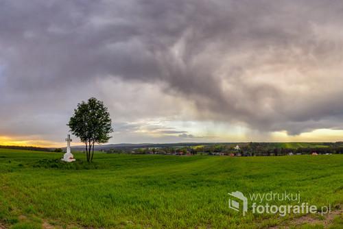 Letnia ulew na Roztoczu, Werchrata, podkarpackie,