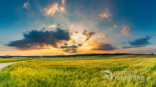 Zachód Słońca na Roztoczu Wschodnim, okolice Werchraty.