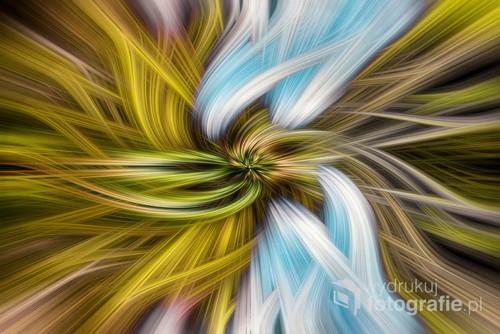 Seria obrazów abstrakcyjnych robionych z panoram 360