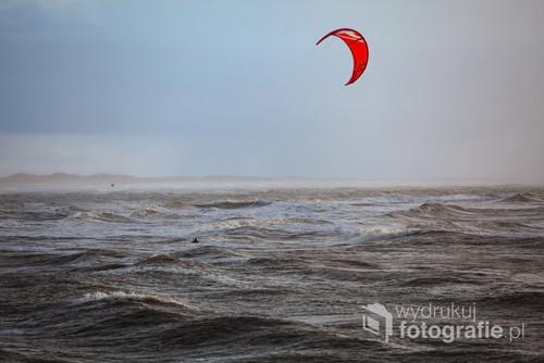 Duńskie wybrzeże Morza Północnego.