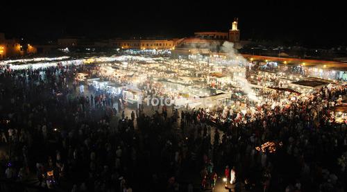 Marrakesz i Plac Straceńców , bardzo ekspresyjne miejsce w Marocco