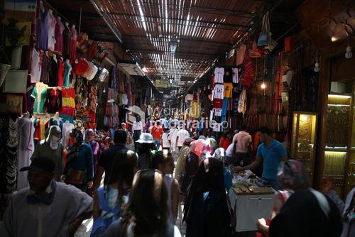 Marokko Dżamaa al-Fina, w czasie wędrówki po okolicznych uliczkach