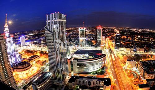 Zdjęcie powstało dość dawno z balkonów jedne z wieżowców w Warszawie