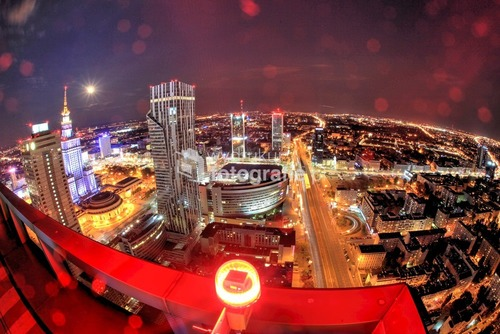 Zdjęcie powstało dość dawno z balkonu jedne z wieżowców w Warszawie, Uroku dodawał lekko padający deszcz