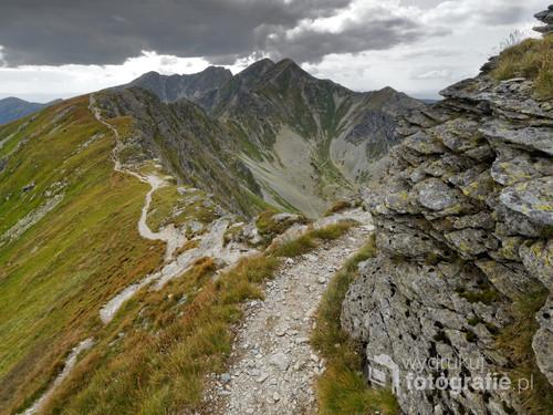 Widok z szlaku na Rohacz Płaczliwy na tatry zachodnie
