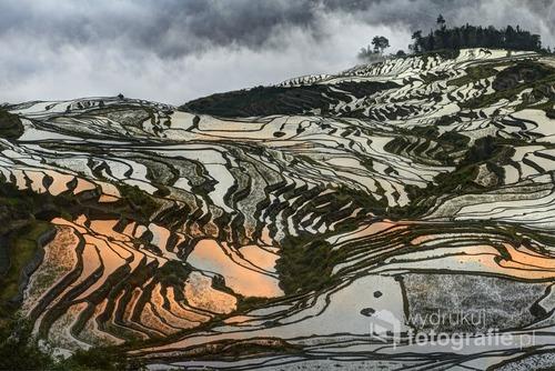 Świt na tarasach ryżowych Duo-Yi-Shu, Yunnan, Chiny zdjęcie zostało wyróżnione w konkursie ND Awards 2016 http://ndawards.net/winners-gallery/nd-awards-2016/professional/landscapes/hm/3197 oraz  jak finalista w Konkursie TPOTY 2014