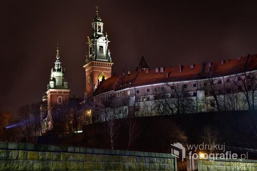 Katedra wawelska nocą