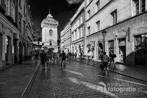 Ulica Floriańska. Brama Floriańska. Kraków. Wrzesień 2016