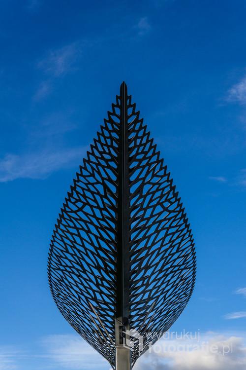 Fragment rzeźba wykonanej przez Virginię King. Queenstown, Nowa Zelandia. 24-10-2018