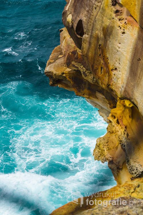 Klify wybrzeża Sydney, Australia. 11-10-2018