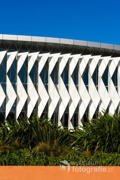 Fasada biblioteki w New Brighton, Nowa Zelandia. 16-11-2018