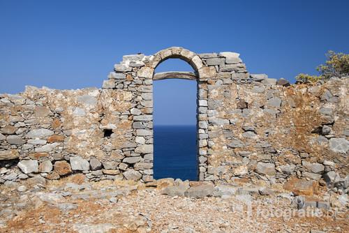 Zdjęcie zostało wykonane na wyspie Spinalonga. Znajdującej się u wybrzeży Krety, Grecja.