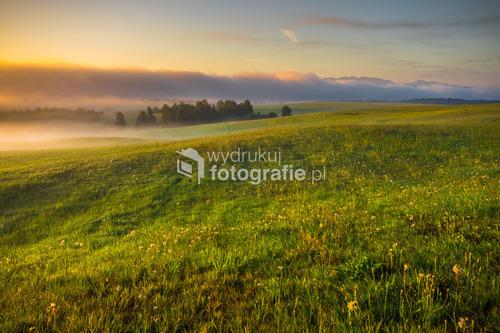 Orawska kraina po słowackiej stronie Babiej Góry...
