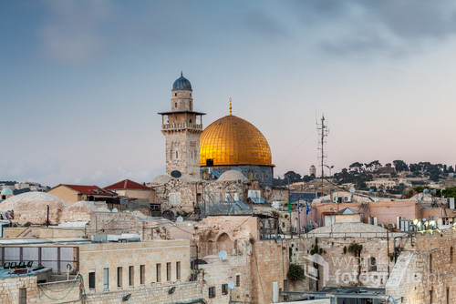 View of the Dome of the Rock in Jerusalem, Israel