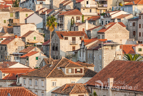 Beautiful view of the town of Hvar on the island of Hvar in Croatia.