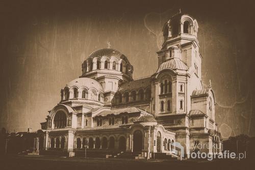 Sofia, Bułgaria, wiosna 2017 Katedra Św, Aleksandra Newskiego
