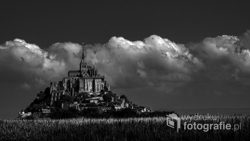 Opactwo Mont St. Michel, Francja.