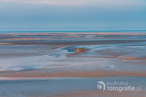 Pejzaż morski podczas odpływu, Bretania, Francja