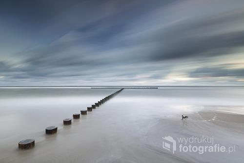 Morze Bałtyckie, plaża w Jarosławcu.  Sierpień 2016
