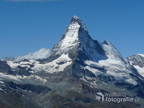 Alpy Pennińskie Szwajcaria. Widok na Matterhorn (4478 m n.p.m.)