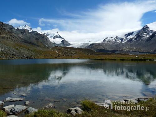 Stellisee, Alpy Pennińskie Szwajcaria, wrzesień 2014