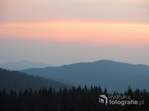 Wschód Słońca, Gorce, sierpień 2015
