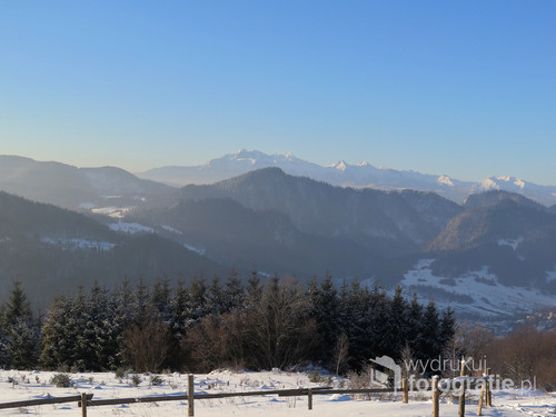Widok na Tatry z Beskidu Sądeckiego, styczeń 2017