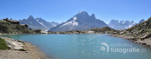 Lac Blanc, Alpy Francuskie, rejon Chamonix. Sierpień 2017