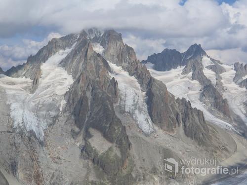 Aiguille d'Argentiere, Alpy Francuskie, sierpień 2017