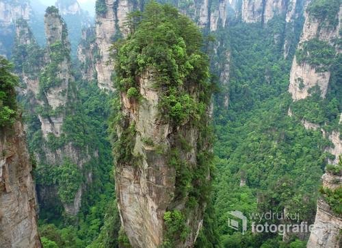 Zhangjiajie National Forest Park, tzw. góry Avatar.