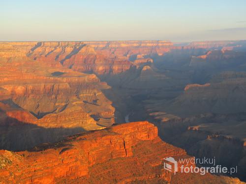 Grand Canyon wschód Słońca widziany z Hopi Point, USA.