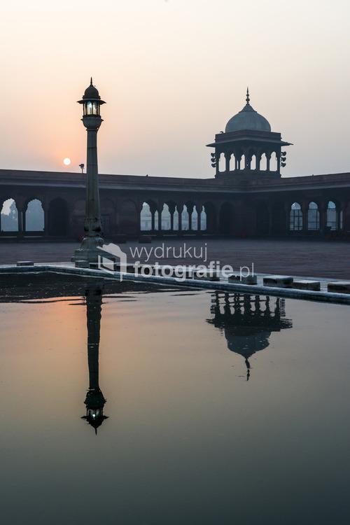 Meczet w Jama Masjid, Stare Delhi, Rajasthan, Indie
