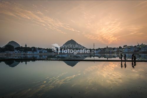 Święte jezioro, Pushkar, Rajasthan, Indie