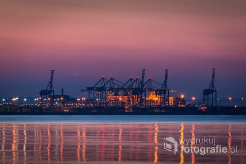 Zmierzch nad morzem w Gdańsku