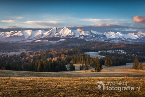 Panorama Tatr o poranku