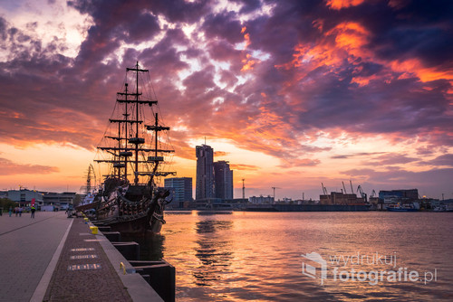 Zachód słońca w Gdyni
