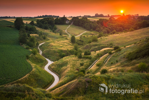 Zachód słońca na Ponidziu