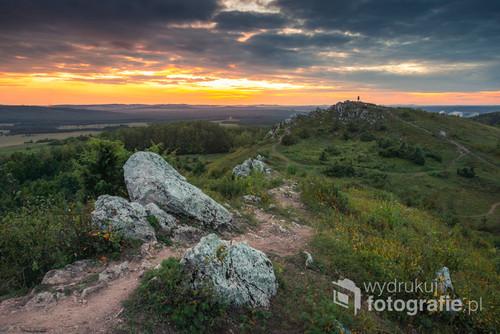 Panorama z Miedzianki w Górach Świętokrzyskich