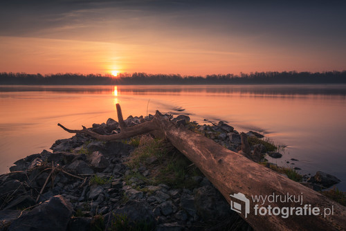 Wschód słońca nad Wisłą