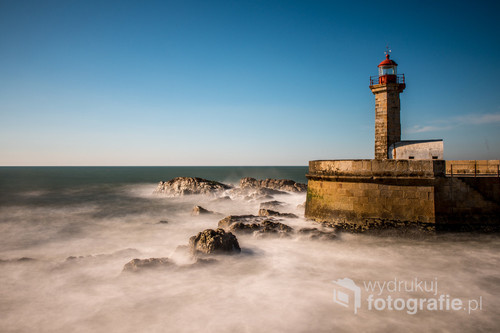 Portugalia,Porto,Ocean,2017 rok, technika cyfrowa,filtr szary.